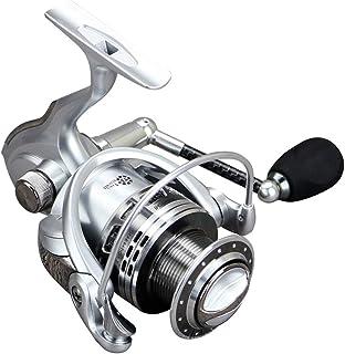 UZZHANG Système de Frein à Double Friction Spinning Reel Baitrunner Reel 13 + 1 Roulements Gauche Droite Poignée Interchangeable pour engins de pêche en Eau Douce