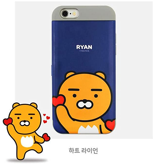 new concept b90cf a1207 Amazon.com: Kakao Friends, iPhone Card Case with Mirror, iPhone 7 ...