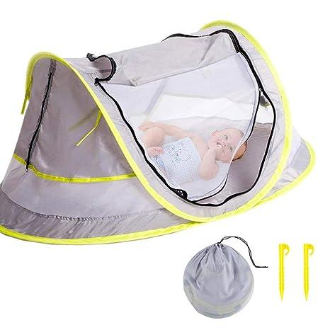 pop up baby tent grey