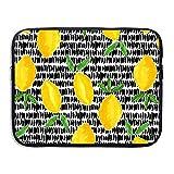 CHJOO Briefcase Laptop Messenger Bag Lemon Pattern Laptop Sve Case Cover Handbag