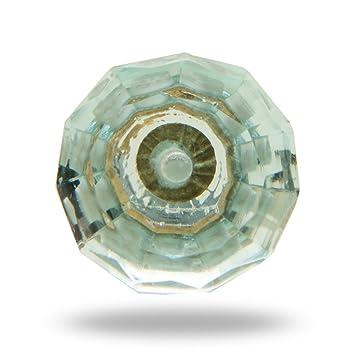 Kember t/ürkis Glas Knauf von trinca-ferro