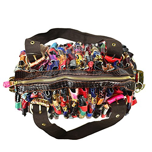 Roll Sibalasi Bag Snake Large Tote colorato Multicolor patchwork Stampa Woven Bohemian Big 7qw7rvxf4P