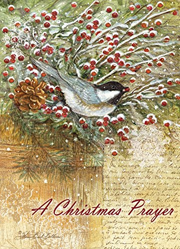 Legacy Publishing Group  Inc  Legacy Of Faith Deluxe Boxed Christmas Cards With Scripture  Chickadee With Holiday Greens  20 Count  Hbx15841