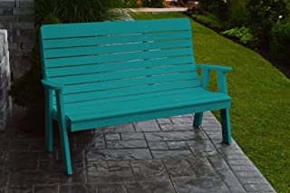 product image for Outdoor Winston Garden Bench - 5 Feet - Aruba Blue Poly Lumber
