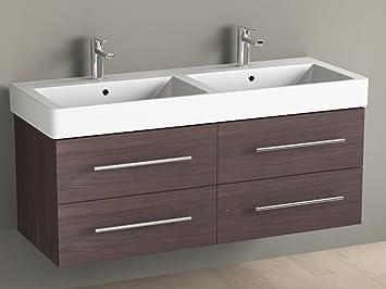 Aqua Bagno Badmöbel Cm Inkl Keramik DoppelwaschtischBadezimmer - Badezimmer waschbecken mit unterschrank