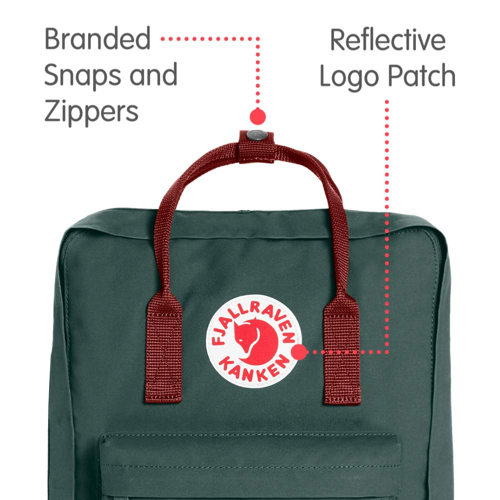 Fjallraven - Kanken Classic Backpack for Everyday, Forest Green/Ox Red by Fjallraven (Image #2)