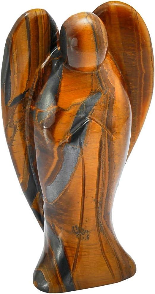 KYEYGWO Figurine Ange Gardien en Cristal avec Ange Gardien 7 cm Aventurine Verte
