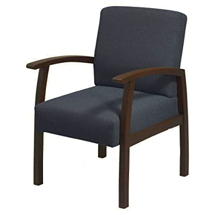 Amazon Com Charcoal Armchair With Espresso Wooden Frame Padded