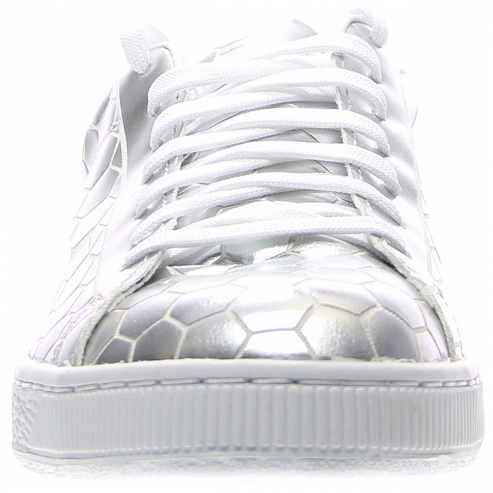 PUMA Men's Basket Classic Metallic Fashion Sneaker, Silver, 9.5 M US by PUMA (Image #5)