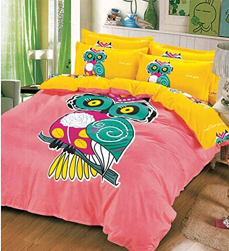 Best Cliab Owl Bedding For Little Girls Twin Size Kids Bed Sheets Duvet  Cover Set 5