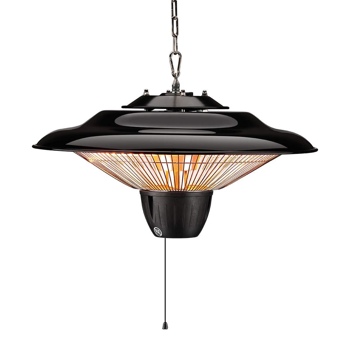 SURJUNY Electric Hanging Heater, Ceiling Patio Heater, Indoor/Outdoor Halogen Heater, Waterproof IP34 Rated, S01 by SURJUNY