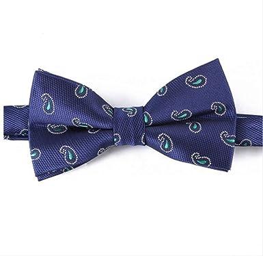 YiJiaMei Hombres de microfibra floral paisley bowtie corbata de ...