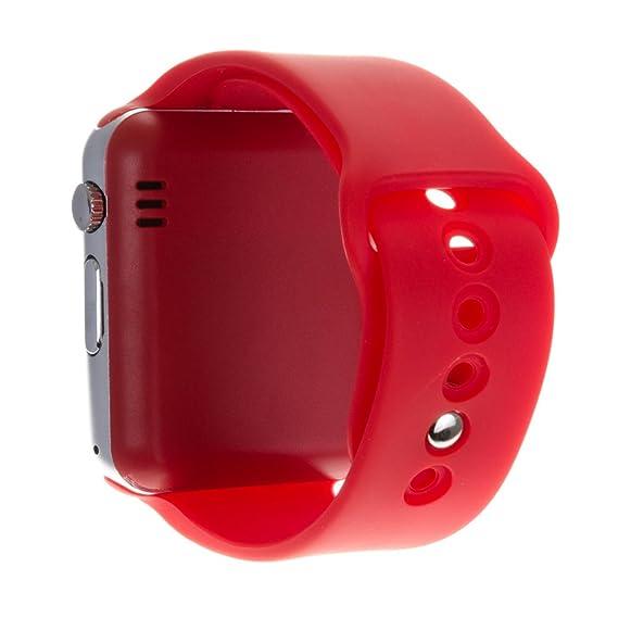 DAM - G08 Smartwatch Red. Cámara integrada. Acepta SIM y micro sd de hasta 32gb. reproductor de música, agenda de contactos, registro de llamadas, ...