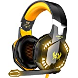 VersionTECH. G2000 Gaming Headset, Surround Stereo Gaming Headphones with Noise Cancelling Mic, LED Lights & Soft Memory Earm