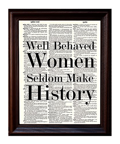 Well Behaved Women - Dictionary Art Print