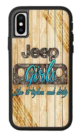 big sale ddeac 8ebbc Amazon.com: Custom iPhone X Case,Jeep girl Hard Plastic Hard Case ...