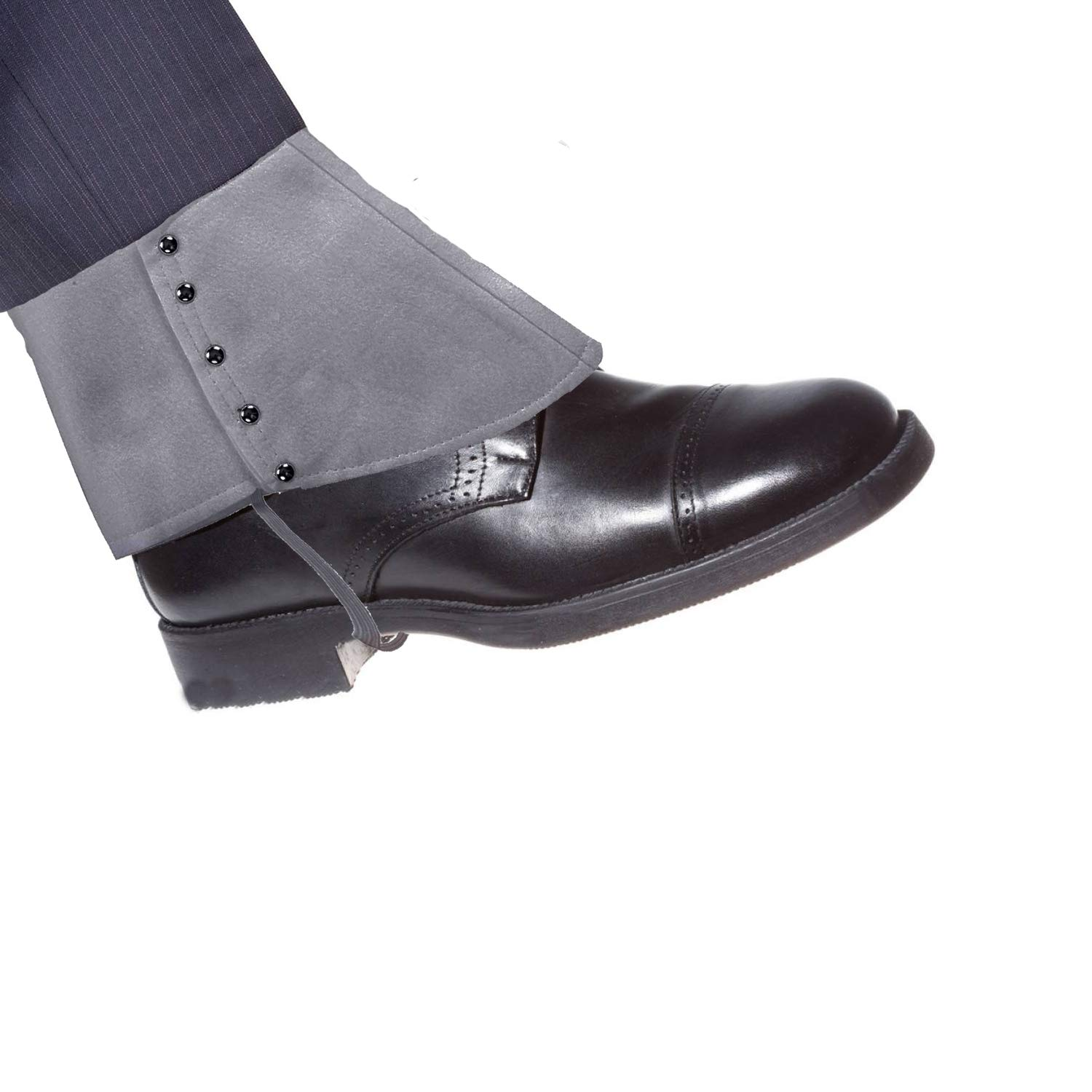 1920s Mens Costume Accessories - Gangster Spats for Shoes Grey)
