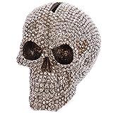 Jewelled Silver Skull Money Box