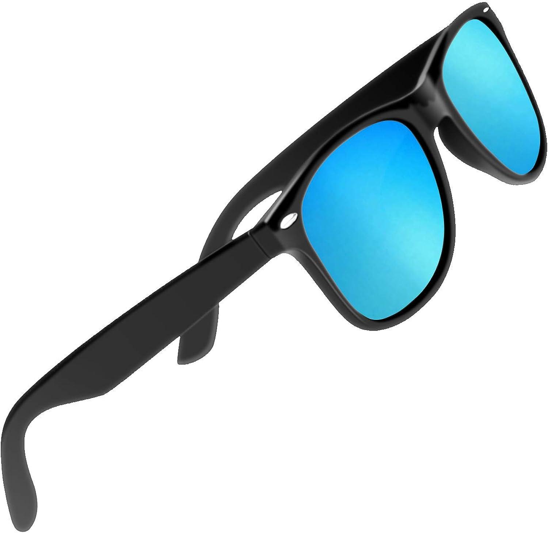 CHEREEKI Gafas de Sol Polarizadas, Gafas de Sol Hombres y Mujer UV400 Protección Retro Conducción Gafas gafas de sol