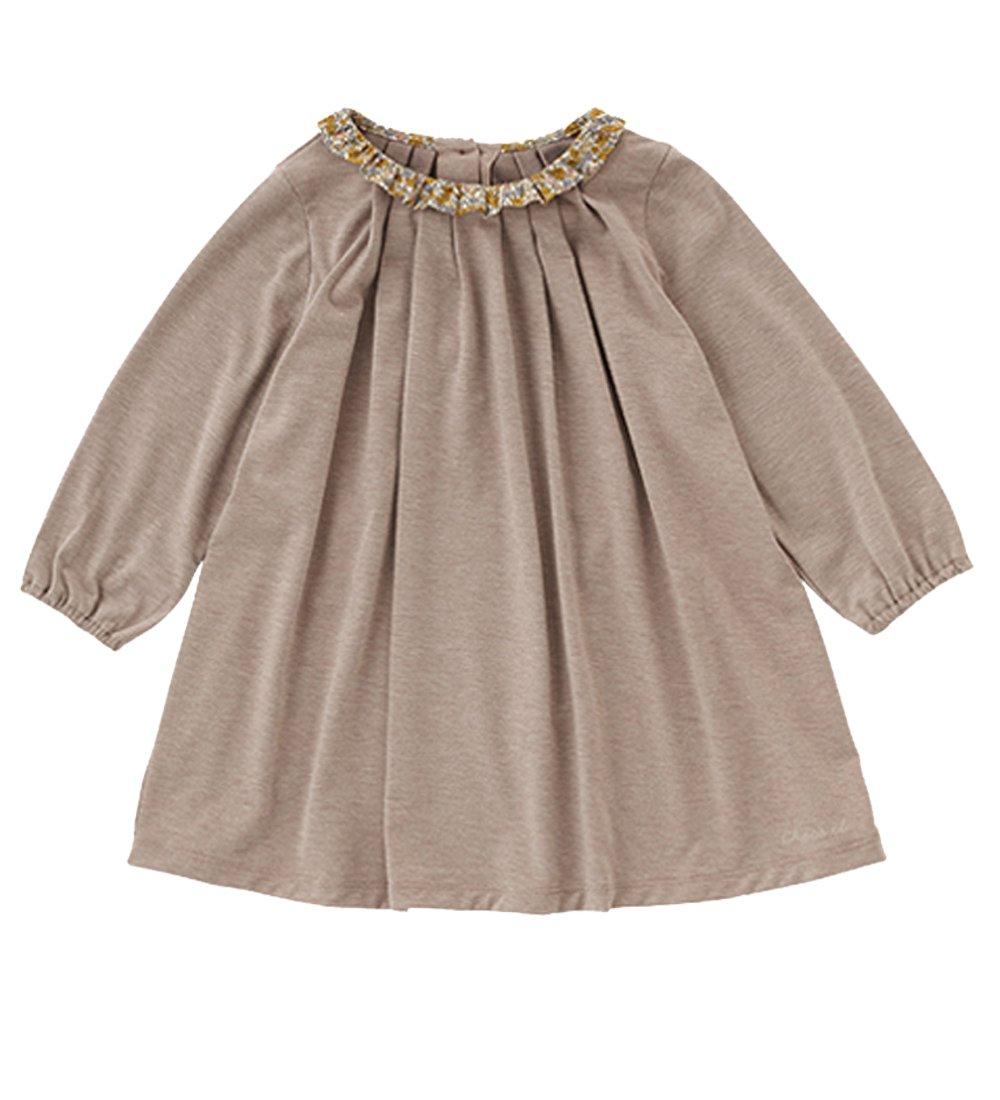 VIYOO Spring Autumn Long Sleeve Toddler Girls Dress With Floral Collar 2018 New Design Kids Cotton Dresses Children Clothing