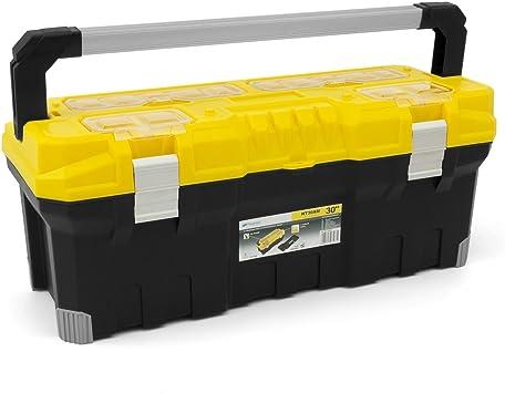 Caja de herramientas TITAN 76,2 cm con asa metálica y bandeja plegable: Amazon.es: Bricolaje y herramientas