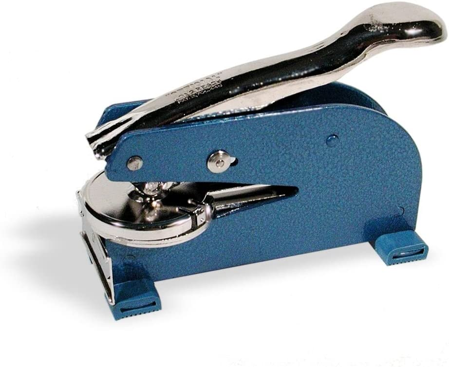 ワシントンコーポレートシール ロングリーチモデル 2-1/2インチ リーチ 1-5/8インチ 円形インプレッション ブルー