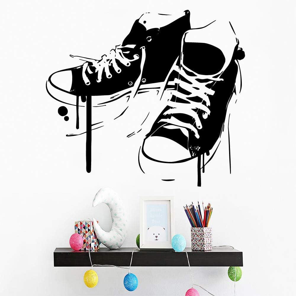 hetingyue Cartoon Chaussures mur Decal Salon Amovible Cuisine