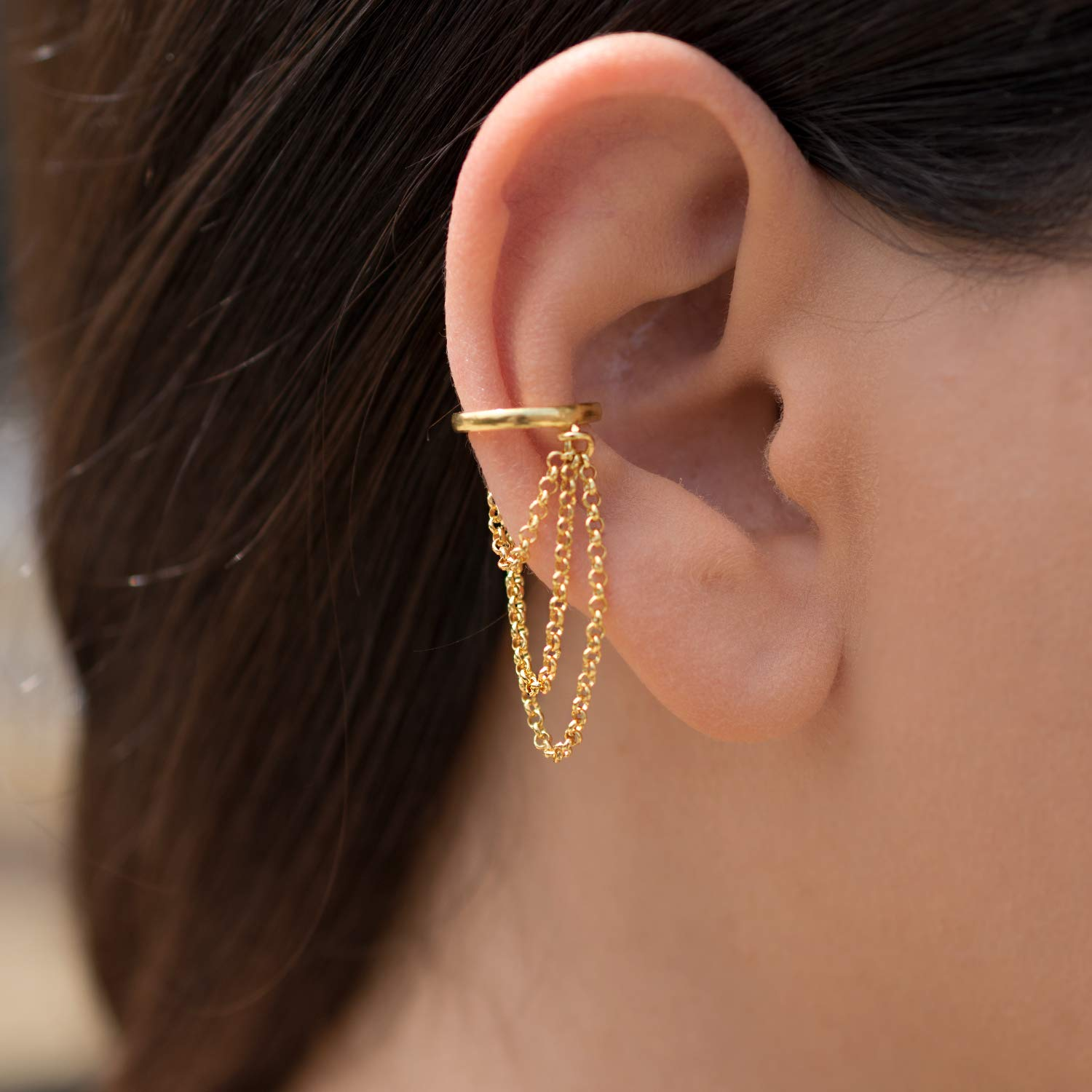 dd49ddd0869 Ear cuff earring ear cuff no piercing, ear wrap gold ear cuff huggie ...