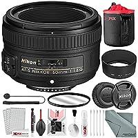 Nikon AF-S NIKKOR 50mm f/1.8G Lens Basic Bundle, 58m UV Filter, Lens Pouch + XPIX Cleaning Kit