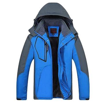 ZJEXJJ Ropa de montaña para Hombre al Aire Libre Chaquetas de esquí Gruesas (Color : Ink Blue, Tamaño : Metro): Amazon.es: Jardín