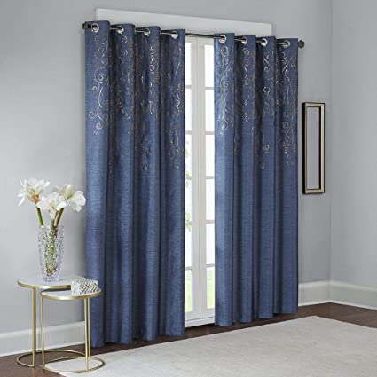 Amazon.com: Blue Curtains for Living Room, Contemporary ...
