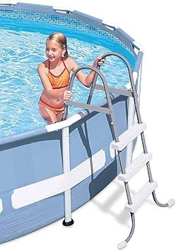 Escalera piscina 107cm. 28065: Amazon.es: Deportes y aire libre