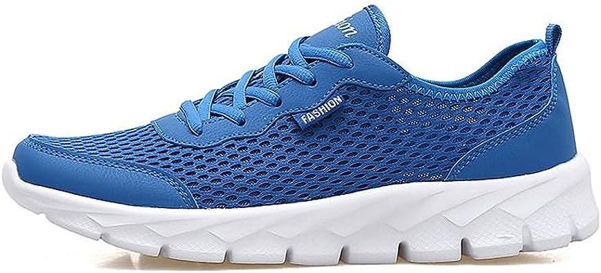 Otoño/Verano 2018 Zapatillas Deportivas Deportivas para Hombres y Mujeres Ventilación con Aire y Control de olores con una Malla Delgada Hueca Zapatillas de Correr Ligeras: Amazon.es: Zapatos y complementos