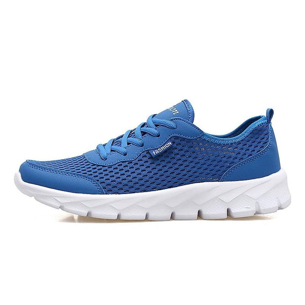 Yajie-schuhe Athletische Turnschuhe der Männer und der Frauen-Belüftungs-und Geruch-Kontrolle mit hohlen Einem dünnen hohlen mit Maschen-leichten Laufschuhen (Farbe   Blau, Größe   47 EU) 0dc862