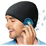 Bluetooth Beanie Hat, Gift for Men/Women, Wireless Bluetooth 5.0 Beanie hat with Double Knitted, Built-in Stereo Speaker & Mi