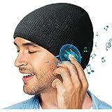 Bluetooth Beanie Hat, Gift for Men/Women, Wireless Bluetooth 5.0 Beanie hat with Double Knitted, Built-in Stereo Speaker…