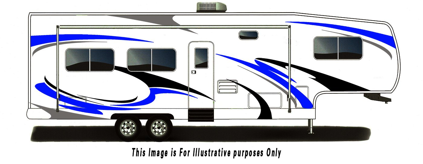 RV, Trailer Hauler, Camper, Motor-Home Large Decals/Graphics Kits 28-k-2