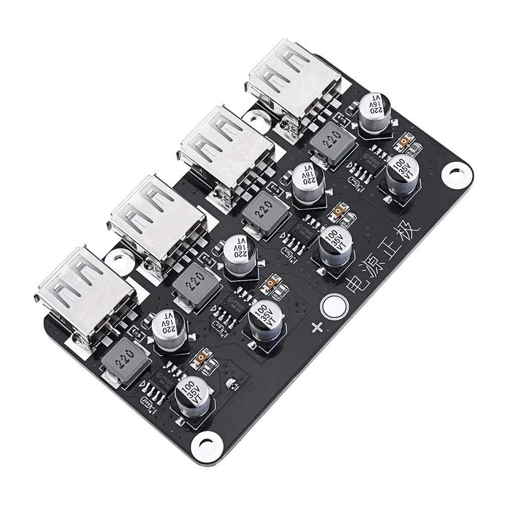 HHF USB Cables 4 USB Fast Charging Module Board 12V 24V to QC2.0 QC3.0 Step Down Power Supply High Efficiency Module Accessories Description