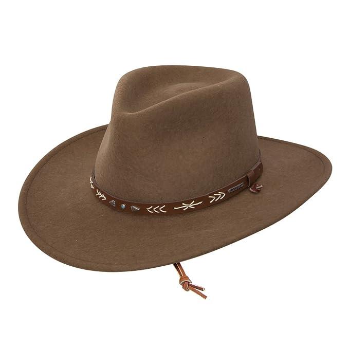 fbbba60cd927c4 Stetson Men's Santa Fe Crushable Wool Felt Hat at Amazon Men's Clothing  store: