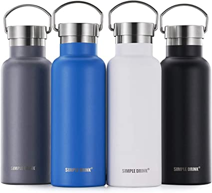 Vacuum Insulated Drinking Bottle Water Bottle BPA Free 24 H Cool /& 12 H Warm Grip