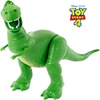 Disney GFR16 Pixar Story 4 Figure, with 15+ Phrases and Sounds, a Distinct Talking Facial Expression, Toy T-Rex Doll, Multicolour