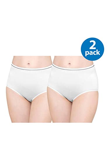 edc30a20cd5a Best Fitting Women's Panty Seamless Brief, 2pk, (Size 5, White) at Amazon  Women's Clothing store:
