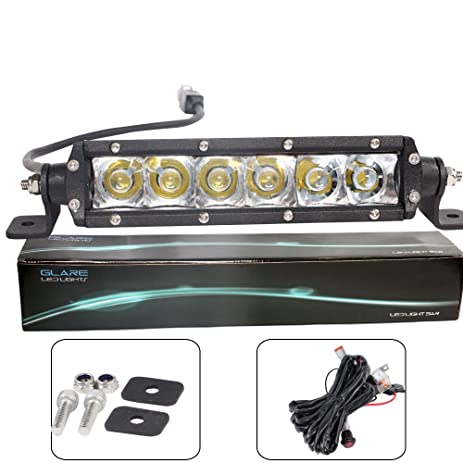 Amazon.com: 6inch 45W Off Road LED Light Bars Wire Harness kit for ...
