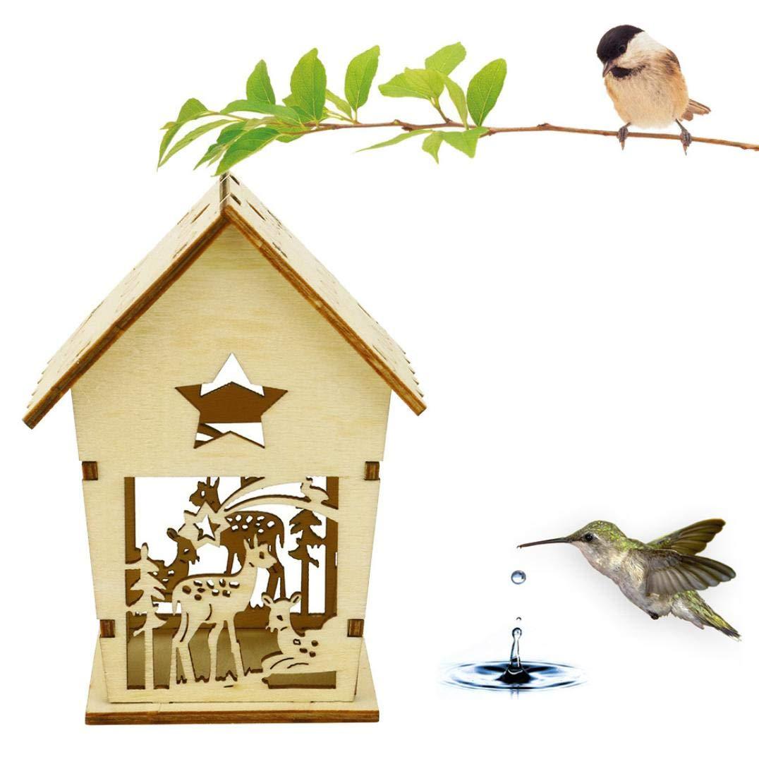 2018 Nest DOX Nest Maison Maison des Oiseaux, Bird's House boîte à Oiseaux Bird Box boîte en Bois pour Oiseaux (Kaki 8) Kaiki