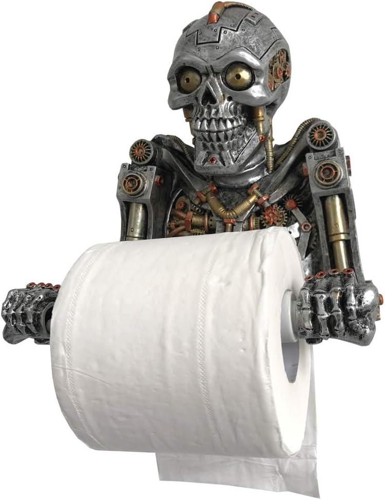 Nemesis Now Steampunk Humanoid Helper Toilet Roll Holder Portarrollos de Papel higi/énico Plateado Talla /única polirresina
