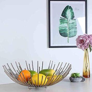 C&S CS Nordic Creativo Cesta de Frutas Minimalista Moderno Hierro Forjado Fruta Sala de Estar Hogar