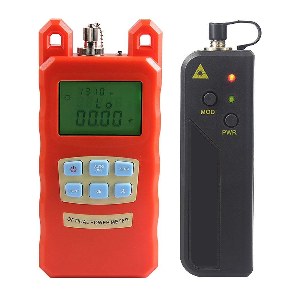 SM SunniMix -70dBm~+10dBm 850~1625nm Optical Power Meter Tester FC SC Handheld Optical Power Meter + with 30mW Visual Fault Locator by SM SunniMix (Image #4)