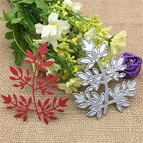 Bluelans Flower Leaves Cutting Dies Handmade DIY Stencils Template Embossing for Card Scrapbooking Craft (Leaves)