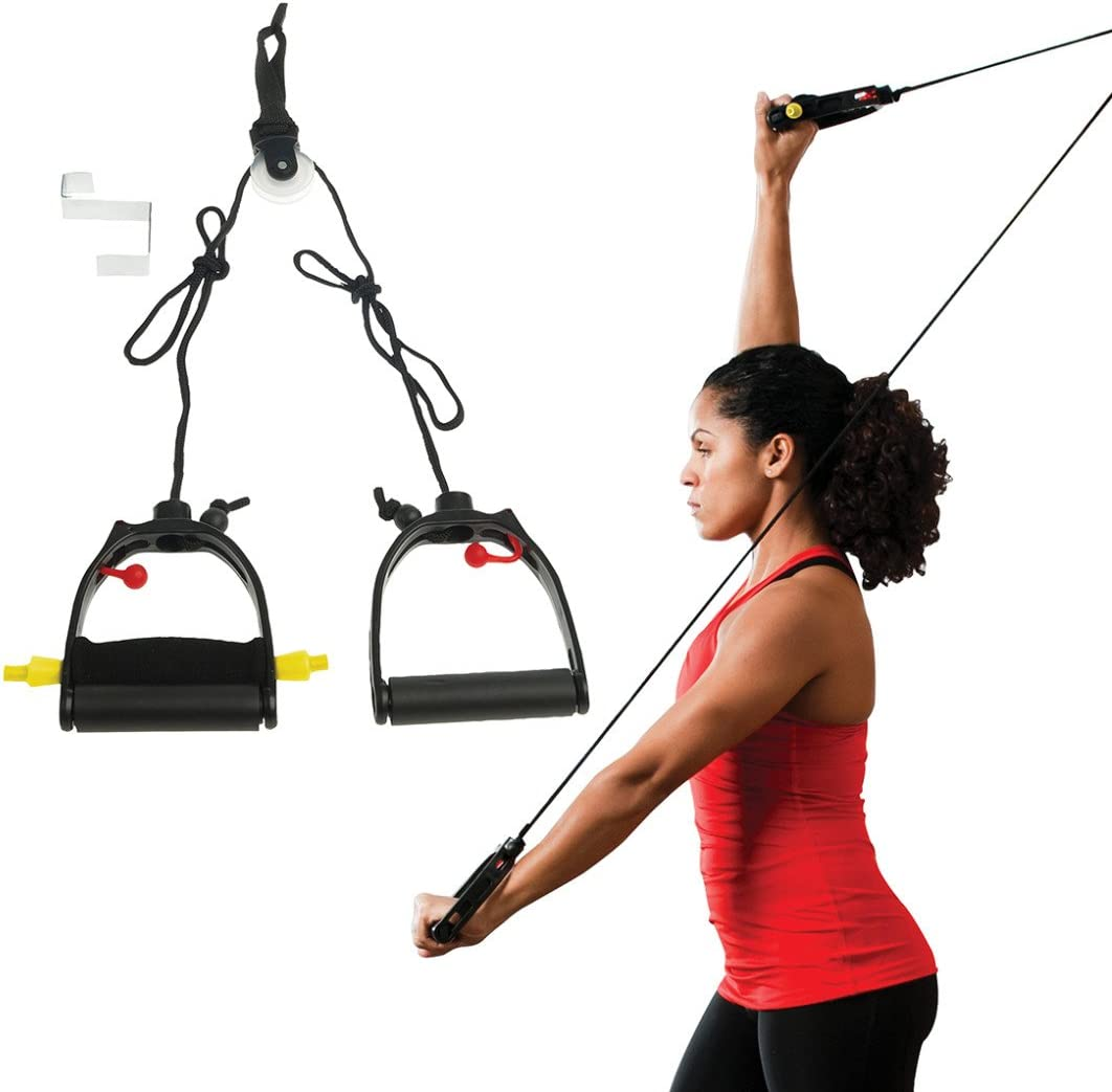 Lifeline Shoulder Pulley for Rotator Cuff Rehabilitation, Physical Therapy, Increased Range of Motion, and Flexibility Exercises with Over Door Attachment, Smooth Pulley and Comfort Handles