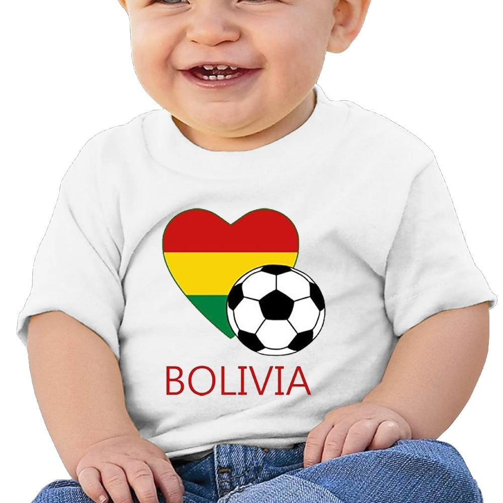 REBELN Love Bolovia Soccer Football Cotton Short Sleeve T Shirts For Baby Toddler Infant